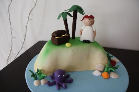 Island with Pirate Cake
